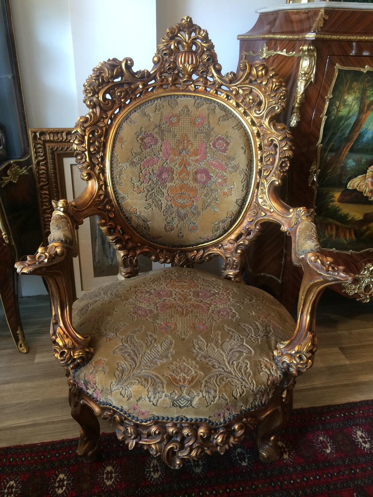 Casa Rueda Blog Archive Sillon barroco frances madera tallada