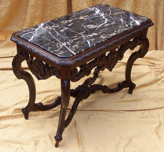 Casa rueda blog archive mesa ratona con m rmol negro - Mesas de marmol precios ...