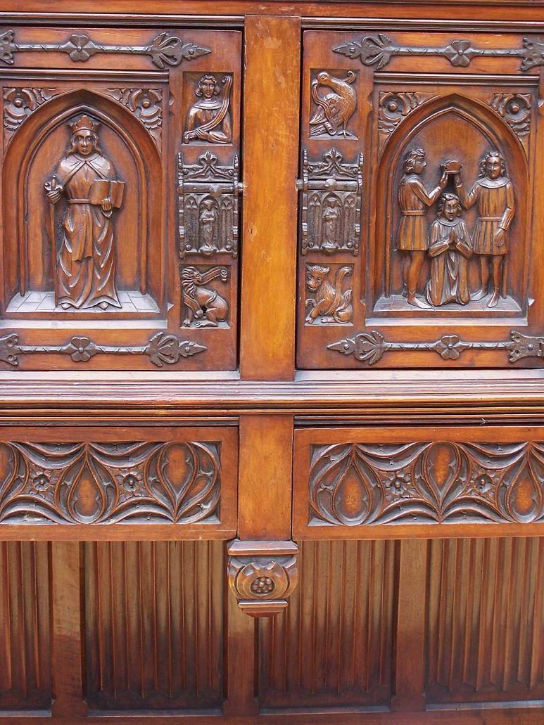 Casa Rueda Blog Archive Armario Belga Estilo G Tico M0070  # Muebles Tallados A Mano